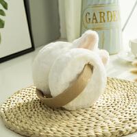 耳套保暖耳罩女冬季可�弁枚�朵毛毛�q超大耳暖耳包耳捂�n版可��