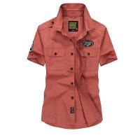 1757夏装薄款战地吉普AFS JEEP纯棉短袖衬衫男士尖领大码半袖衬衣