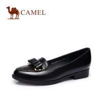 camel骆驼女鞋 甜美舒适 复古蝴蝶结低跟单鞋气质女鞋