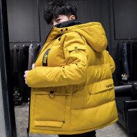 男士羽绒服冬季2018新款中长款韩版潮流短款加厚轻薄青年工装外套时尚修身款简约百搭