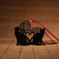 碳墨轩 物语系列 爱心猫 创意书签 当当自营