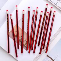 正品中华铅笔6151带橡皮檫铅笔学生书写专用铅笔HB铅笔老品牌 12支装