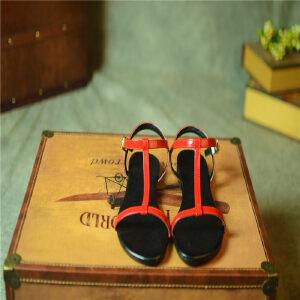 O'SHELL欧希尔新品057-1666-1韩版平底鞋女士凉鞋