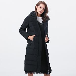 2017年冬季新品时尚中长款羽绒服女保暖修身连帽TB17768