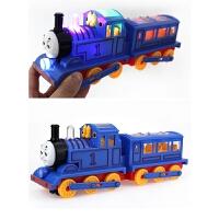 大号双节火车头玩具 儿童男孩小火车托马斯轨道电动万向