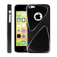 ikodoo 苹果iPhone 5C手机套 iphone5c薄款手机壳 5C金属背壳 拉丝保护壳 5C手机套 5C保护