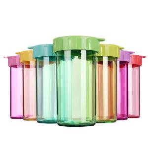 特百惠水杯子雅致杯310ml塑料无异味运动便携防漏情侣杯亲子杯多色可选