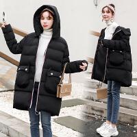 冬季韩版孕后期宽松外套2019年新款大肚子棉袄孕妇棉衣