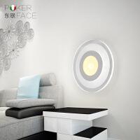东联LED壁灯饰创意大客厅灯超薄温馨卧室后现代简约过道灯具b3圆