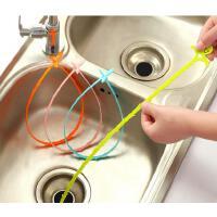 懿聚堂 9325厨房管道疏通钩下水道厕所疏通器 家用水槽排水防堵清洁钩