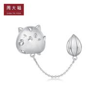 周大福珠宝首饰动物转运珠925银吊坠AB39466