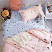 纯棉床单三件套 学生宿舍 单人女生寝室1.2m床上用品全棉被单被套