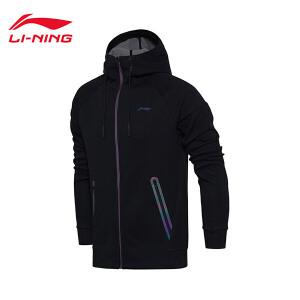 李宁卫衣男士训练系列开衫长袖外套休闲上衣运动服AWDM835