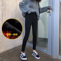 秋冬装时尚款黑色小脚裤冬季加绒加厚保暖孕妇裤子外穿打底裤