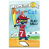英文原版 皮特猫 Pete the Cat: Play Ball!
