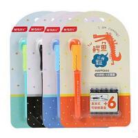 晨光文具直液式钢笔组合卡装可换墨囊 可擦笔 墨胆颜色* 0666鳄鱼