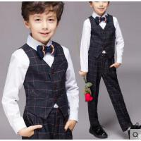 儿童礼服男童背带裤套装户外新款花童表演服装男韩版百搭钢琴演出服男孩西装