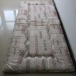 折叠床垫学生宿舍户外防潮榻榻米地铺睡垫子0.9m单人加厚海绵床褥 乳白色 英伦格调 0.9*2.0m床