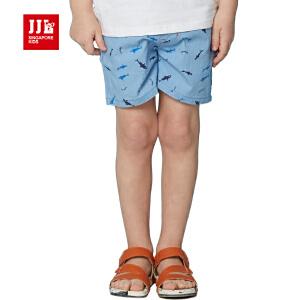 jjlkids季季乐童装男童透气舒适休闲夏季短布裤中小童薄款