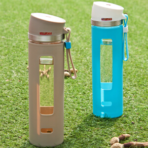 日本泰福高大气玻璃水杯 耐热玻璃杯办公杯夏季男士运动车载杯