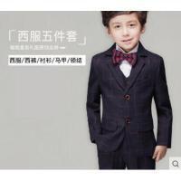 儿童西服套装韩版修身男童小西装外套花童礼服男孩西装宝宝英伦中大童优雅时尚