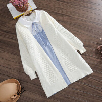 孕妇装时尚套装秋装新款秋季开衫孕妇毛衣外套