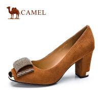 CAMEL 骆驼 春季新款 羊皮高跟粗跟时尚女单鞋