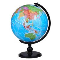 博目 25cm中文政区AR地球仪(炫影黑架)办公用品文具教具 教材同步 创意礼品 办公书房装饰