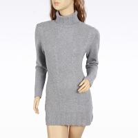 羊绒衫女士毛衣秋冬百搭显瘦打底衫纯色中长款羊绒衫女士套头高领针织衫毛衣礼品礼物