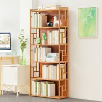 老睢坊 书架简易置物架简约现代实木多层落地儿童学生用书柜收纳架