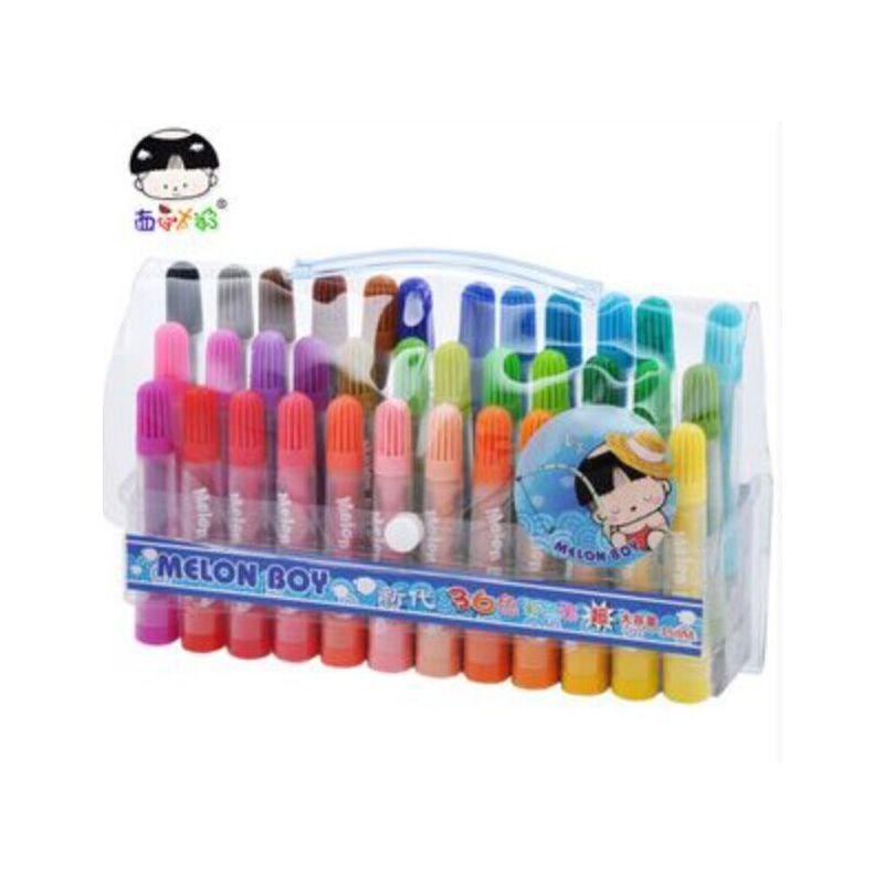 西瓜太郎36色水彩笔 36色大容量水彩笔