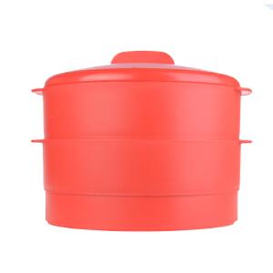 特百惠 双层蒸霸家用塑料蒸笼加深蒸格包子馒头架通用锅型升级版