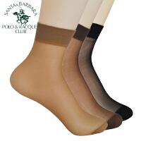 圣大保罗丝袜女士5双水晶丝袜潮女生隐形短丝袜打底透明肉色袜子学生可爱中筒防滑女袜春夏季薄