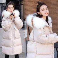 冬款加厚外套宽松大码孕妇棉衣2019冬季新款韩版大毛领棉衣