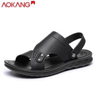 奥康凉鞋男夏季男士休闲凉鞋防滑沙滩鞋两用凉拖鞋