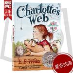 现货 英文原版 夏洛的网 Charlotte s Web 儿童畅销书 9-12岁 两种封面随机发货