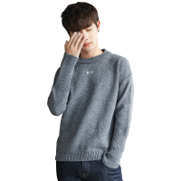 男士毛衣圆领韩版潮流学生百搭修身型情侣外套冬季个性长袖秋衣bf