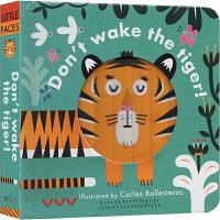 英文原版Little faces:Don't wake the tiger不要叫醒老虎 机关操作玩具书 幼儿启蒙亲子互动