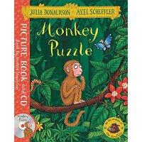 【中商原版】小猴子找妈妈 英文原版 Monkey Puzzle 吴敏兰书单 附CD 儿童故事绘本 3-6岁 茱莉亚唐纳