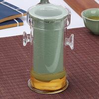 陶瓷泡茶壶家用过滤双耳冲茶器花茶玻璃茶杯套装红茶茶具