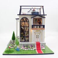 弘达diy小屋 小王子的玫瑰花13837  手工拼插模型别墅 不含防尘罩