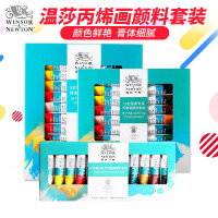 温莎牛顿丙烯颜料套装12色/18色/24色10ml纺织墙绘手绘颜料diy