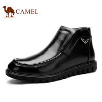 camel 骆驼男靴 圆头商务休闲皮靴秋冬新款商务靴子 男