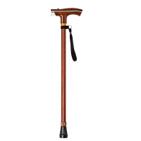 酷然老人拐杖专用防滑行走带灯拐棍小四脚拐扙手杖伸缩铝合金手仗