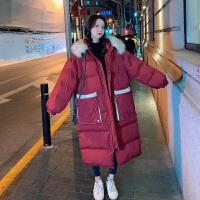 秋冬季大码羽绒孕后期韩版宽松中长款棉袄孕妇棉衣冬装外套