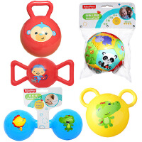 【当当自营】费雪(Fisher Price)儿童玩具球(认知球12片+摇铃球红色+哑铃球蓝色+糖果球红色+拉拉球黄色)