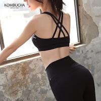 【领券立减100元】Kombucha瑜伽健身内衣女士聚拢防震性感交叉美背跑步运动文胸HXF33905N