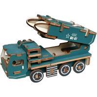 儿童木质拼图立体3d玩具模型女男孩益智力动脑拼装积木6-8岁以上