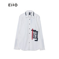 BURANDOENO潮牌男士长袖衬衫秋季新款修身休闲衬衣 E7FAM21001