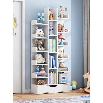 祥然 环保加厚树形省空间置物架 落地书架现代创意小书柜客厅 多功能储物 安装简易